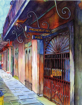 16  Preservation Hall Art Print by John Boles