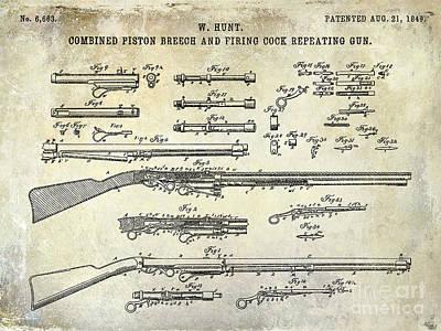 1849 Photograph - 1849 Gun Patent by Jon Neidert