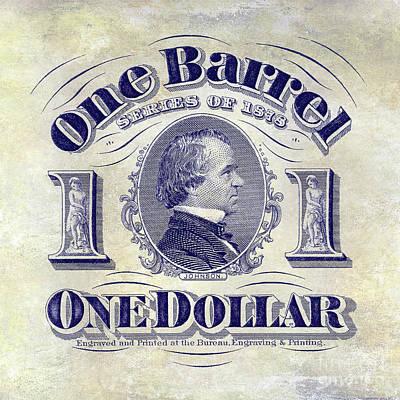 1878 Photograph - 1878 Beer Barrel Tax Stamp by Jon Neidert