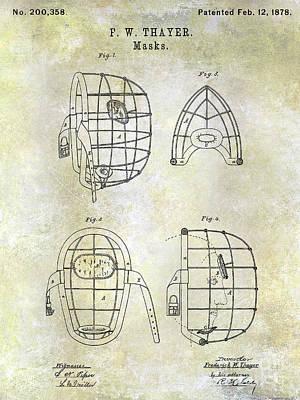 1878 Catchers Mask Patent Art Print by Jon Neidert