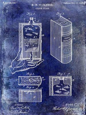 1885 Liquor Flask Patent Art Print by Jon Neidert