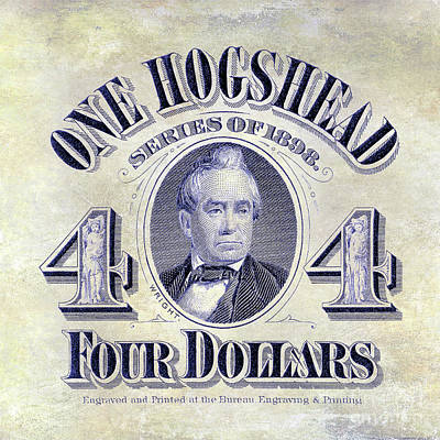 1898 Hogshead Beer Tax Stamp Art Print