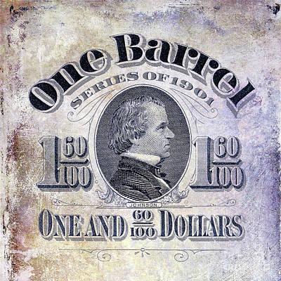 1901 Photograph - 1901 Beer Barrel Tax Stamp by Jon Neidert