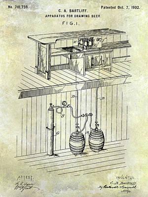 Stein Photograph - 1902 Beer Draft Patent by Jon Neidert