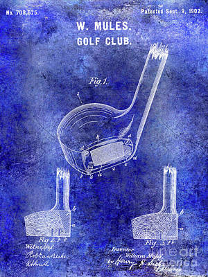1902 Golf Club Patent Art Print