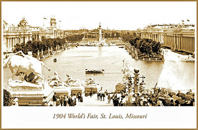 1904 World's Fair, Grand Basin View From Festival Hall Art Print