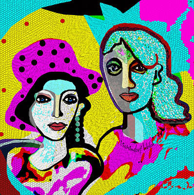 Digital Art - 1910 - Gaudy People 2017 by Irmgard Schoendorf Welch