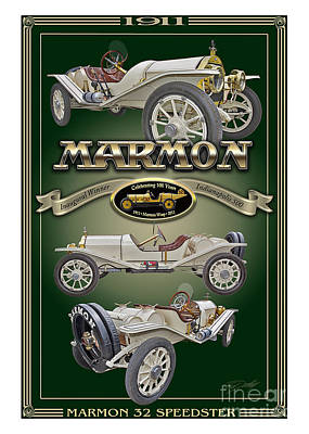 Photograph - 1911 Marmon 32 Speedster by Ed Dooley