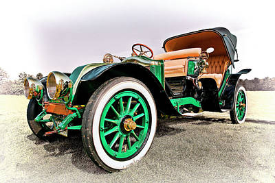 Antique Car Photograph - 1914 Renault Type Ef Victoria by Marcia Colelli