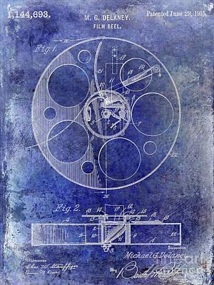 1915 Film Reel Patent Art Print