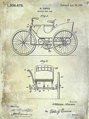 Schwinn Wall Art - Digital Art - 1919 Bicycle Patent by Jon Neidert