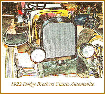 Photograph - 1922 Dodge Brothers Classic Automobile by A Gurmankin