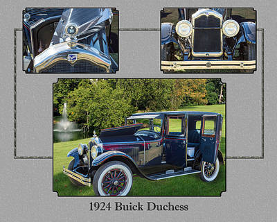 Photograph - 1924 Buick Duchess Antique Vintage Photograph Fine Art Prints 120    by M K  Miller