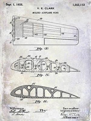 1925 Airplane Wing Patent Art Print