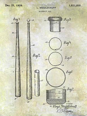 1926 Baseball Bat Patent Art Print