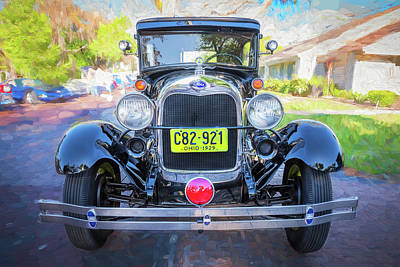 1929 Ford Model A Tudor Police Sedan  Art Print by Rich Franco