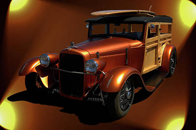 Photograph - 1929 Ford Model A Woody by TeeMack