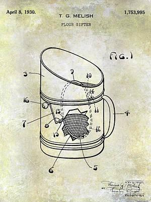 Beaters Photograph - 1930 Flour Sifter Patent by Jon Neidert