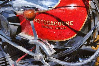 Mascot Painting - 1930 Motosacoche by George Atsametakis