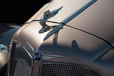 Photograph - 1930s Buick Flying Lady Hood Ornament by Chris Flees