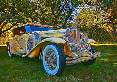 Photograph - 1931 Dusenberg Model J Tourster Derham by Allen Beatty