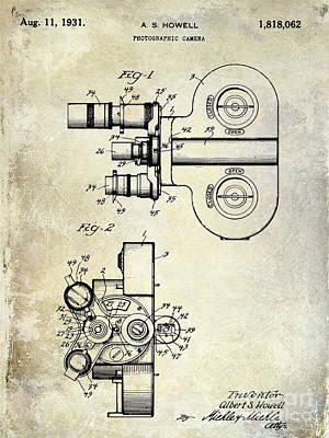 Vintage Camera Photograph - 1931 Movie Camera Patent by Jon Neidert