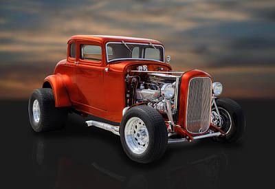1932 Ford Photograph - 1932 Ford Coupe by Frank J Benz