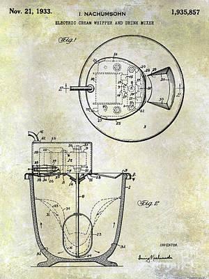 Hobart Photograph - 1933 Electric Cream Whipper Patent by Jon Neidert