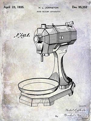 Beaters Photograph - 1935 Food Mixing Apparatus Patent by Jon Neidert