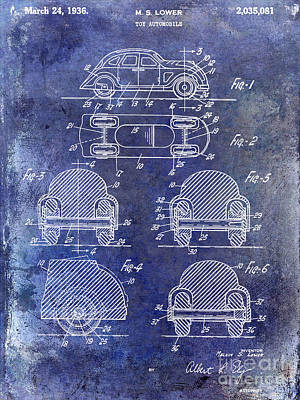 1936 Vw Toy Car Patent Art Print