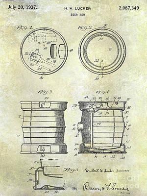 Stein Photograph - 1937 Beer Keg Patent by Jon Neidert