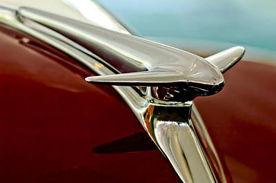 Hoodies Photograph - 1938 Lincoln Zephyr Hood Ornament by Jill Reger