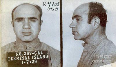 1939 Al Capone Mugshot Art Print