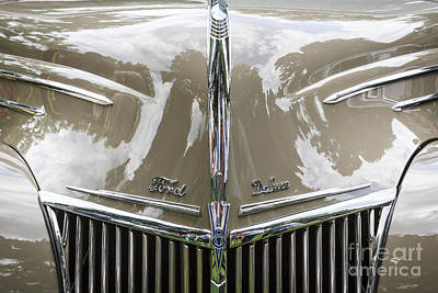 Photograph - 1939 Ford Deluxe Grill by Dennis Hedberg