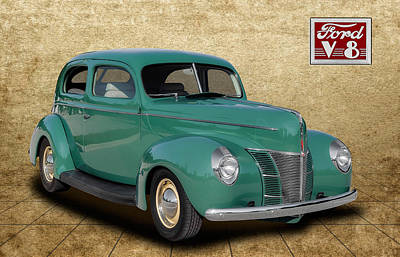 Ford Custom V8 Photograph - 1940 Ford Coupe by Frank J Benz