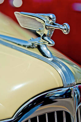 1940 Packard Hood Ornament Art Print by Jill Reger