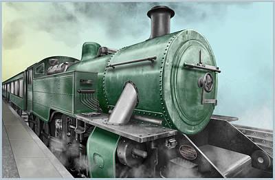 Digital Art - 1940's Steam Train by Marty Garland