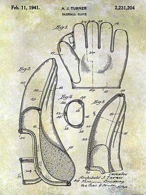 1941 Baseball Glove Patent Art Print by Jon Neidert