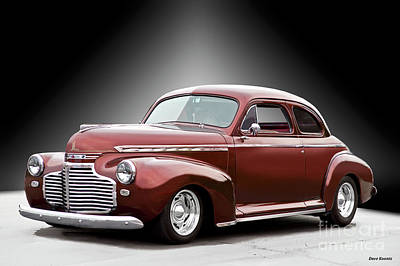 Custom Chevrolet Deluxe Photograph - 1941 Chevrolet Master Deluxe Coupe II by Dave Koontz