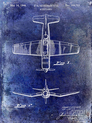 1946 Airplane Patent Art Print by Jon Neidert
