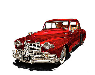 Painting - 1946 Lincoln Continental Mk I by Jack Pumphrey