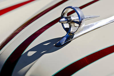 Hoodie Photograph - 1949 Custom Buick Hood Ornament by Jill Reger