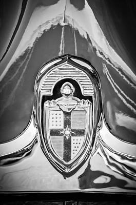 Photograph - 1949 Lincoln Coupe Hood Ornament -0929bw by Jill Reger