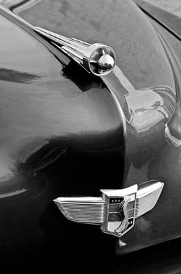 1949 Studebaker Champion Hood Ornament Art Print by Jill Reger