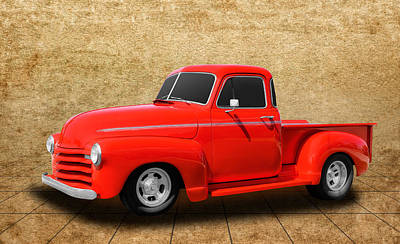 1948 Chevrolet Pickup Truck Art Print by Frank J Benz