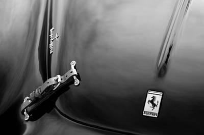Photograph - 1950 Ferrari Hood Emblem by Jill Reger