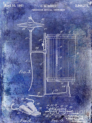 1951 Percussion Patent Art Print by Jon Neidert