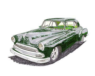 Painting - 1952 Chevrolet Bel Air by Jack Pumphrey