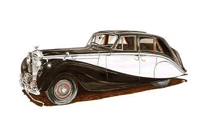 Painting - 1953 Bentley Empress Saloon by Jack Pumphrey