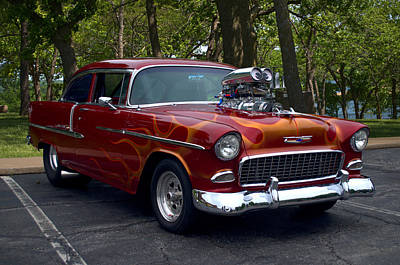Photograph - 1955 Chevrolet Dragster by TeeMack